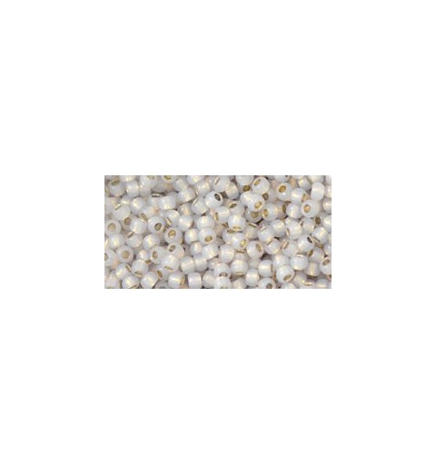TR-11-PF2101 Permanent Finish - Silver-Lined Milky Cloud TOHO Seed Beads