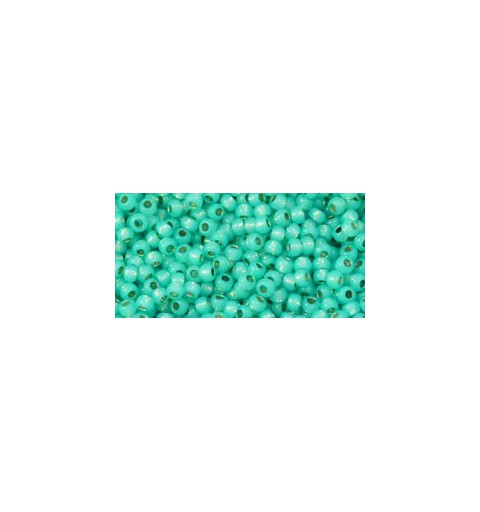 TR-11-PF2104 Permanent Finish - Silver-Lined Milky Teal TOHO Seed Beads