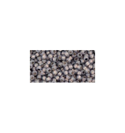 TR-11-PF2115 Permanent Finish - Silver-Lined Milky Gray TOHO Seemnehelmed