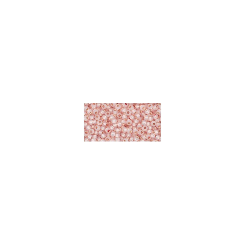 TR-11-PF2126 Permanent Finish - Silver-Lined Milky Peachy Pink TOHO Seed Beads