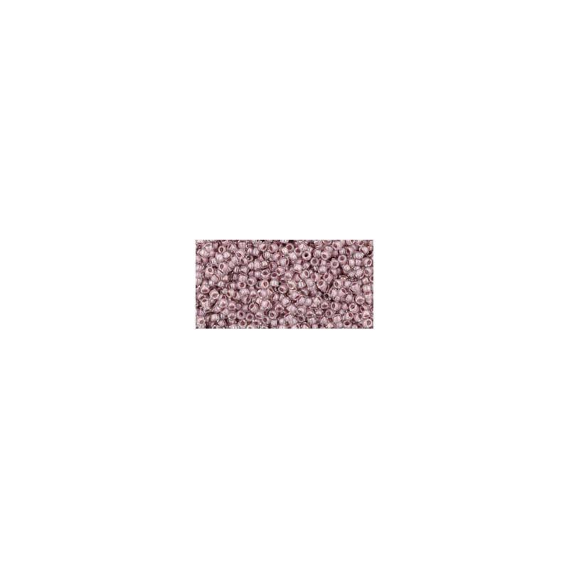 TR-15-353 Inside-Color Crystal/Lavender Lined TOHO Seemnehelmed