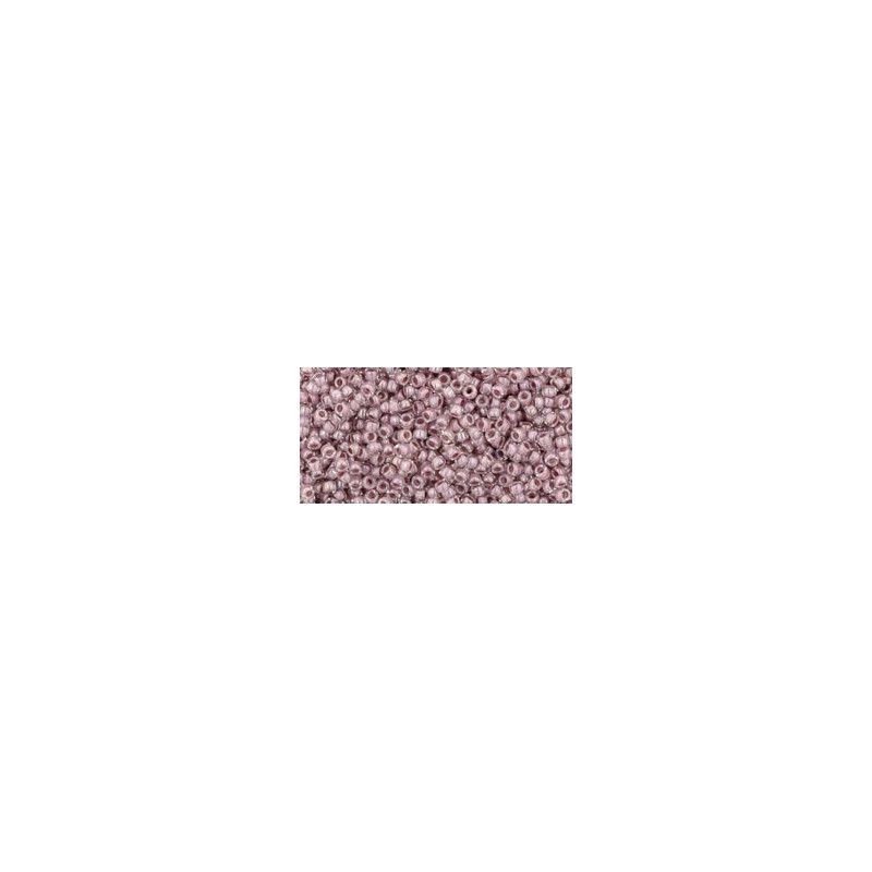 TR-15-353 Inside-Color Crystal/Lavender Lined TOHO Seed Beads