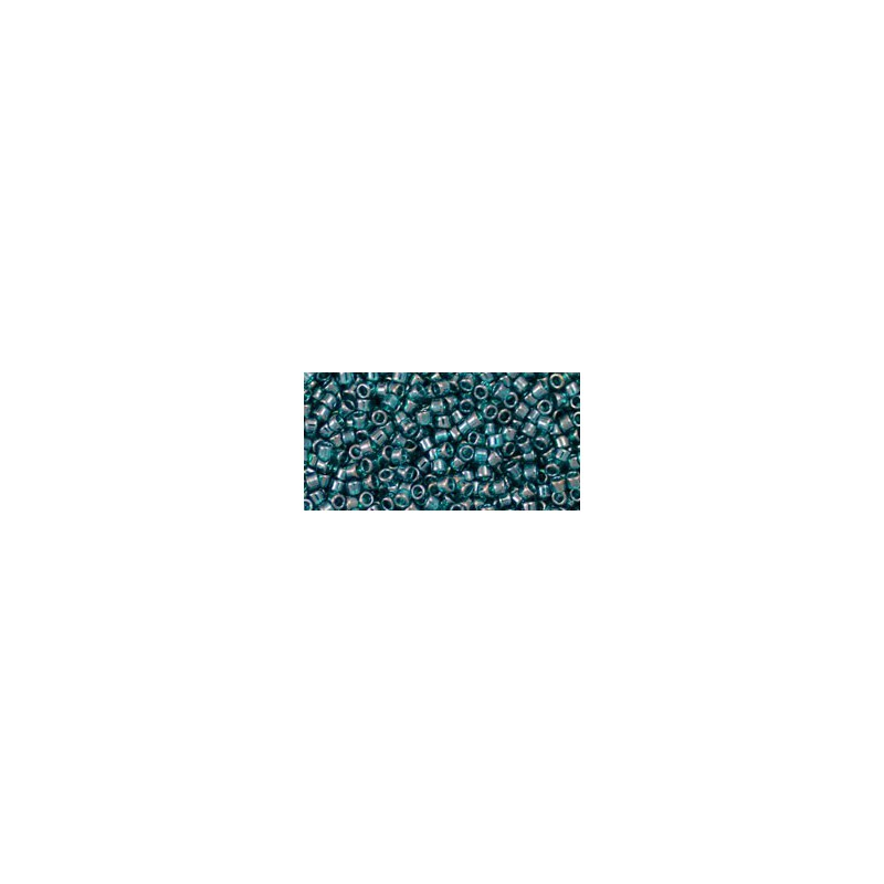 TT-01-108BD Trans-Lustered Teal TOHO Treasures Seemnehelmed