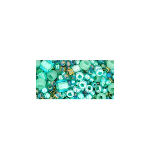 TX-01-3203 Take- Seafoam/Green Mix TOHO Seed Beads