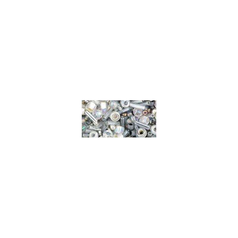 TX-01-3211 Tenin- Gray/Gold Miks TOHO Seemnehelmed