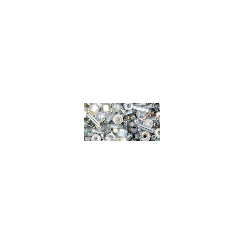 TX-01-3211 Tenin- Gray/Gold Mix TOHO Seed Beads