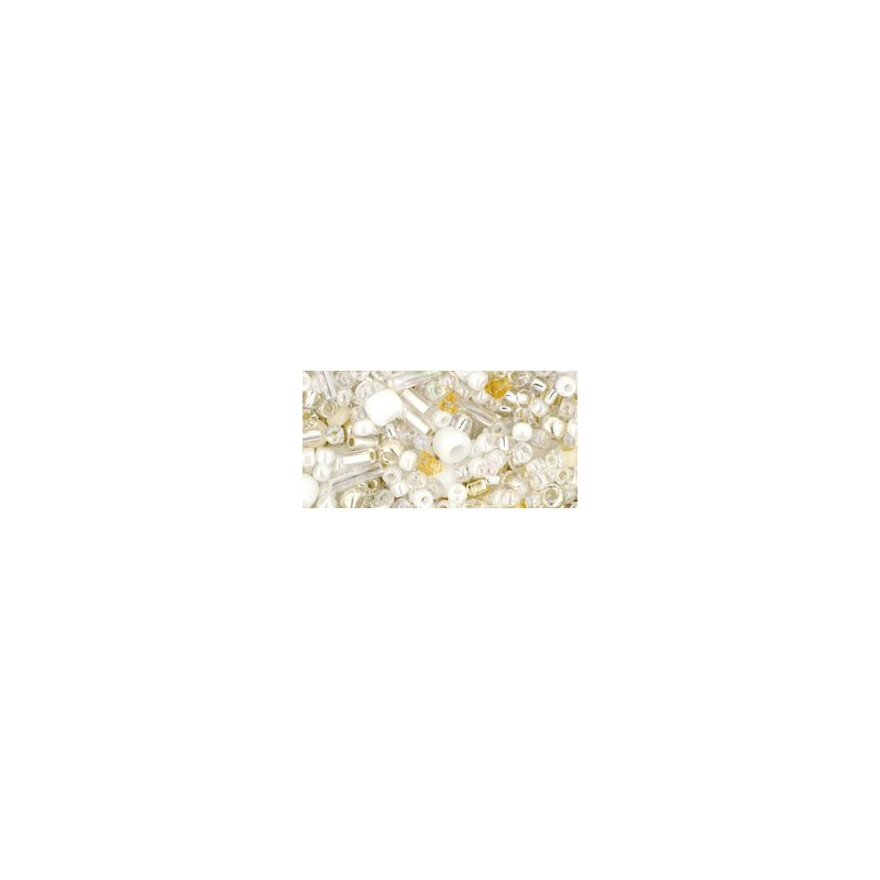 TX-01-3212 Hasu- White Mix TOHO Seed Beads