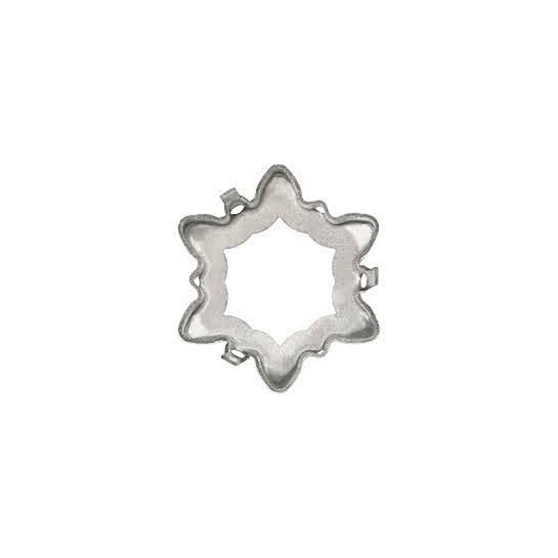 18mm 4753/S 1PH2OH Edelweiss Rhodium plated Fancy Stone Setting (4 HOLES/2EACH SIDE - OPEN)