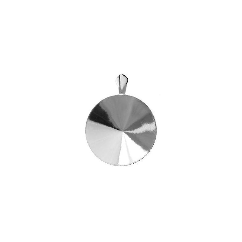 For Rivoli 1122 18mm Swarovski approx. 23,5X18mm Silver pendants hanging part