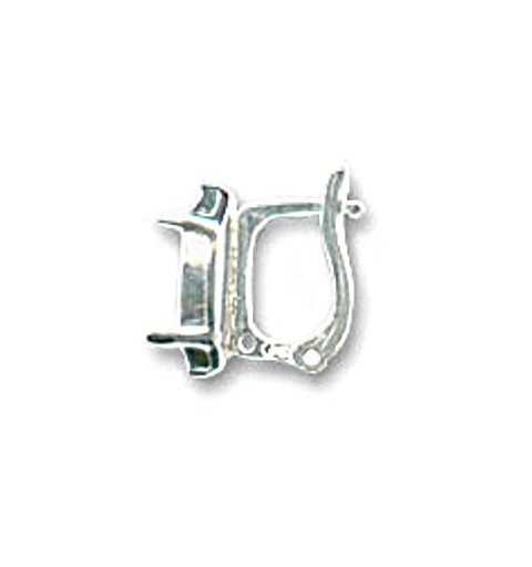 For Navette 4228 15x7mm approx. 17X13mm Swarovski Silver Lever back with setting