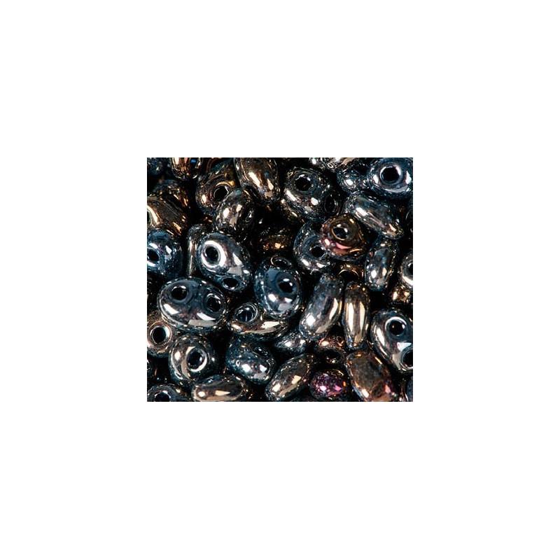 Twin-2RH-59115 Brown Iris ORNELA Seed Beads