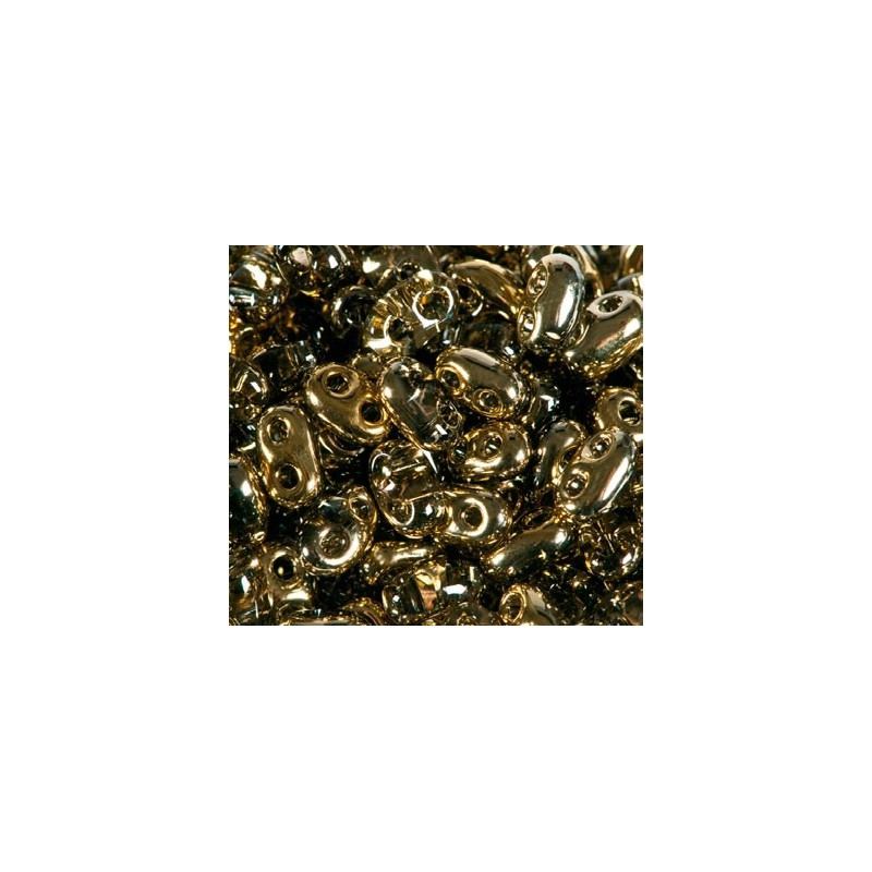 Twin-2RH-0005m Crystal-Amber ORNELA Seed Beads