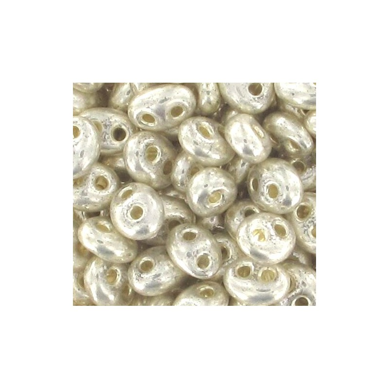 Twin-2RH-18503 Crystal-Terra Silver Metallic ORNELA Бисер