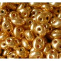 Twin-2RH-18581 Crystal-Terra Gold Metallic ORNELA Seed Beads