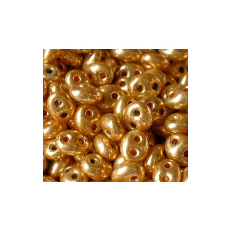 Twin-2RH-18581 Crystal-Terra Gold Metallic ORNELA Бисер