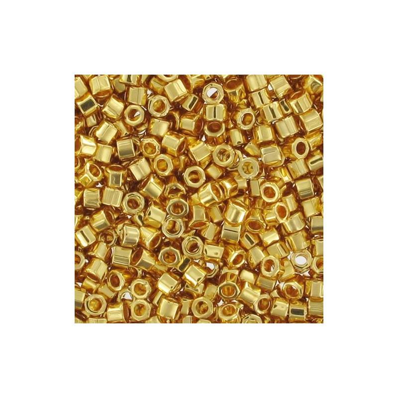 DBC-0031 24KT Gold Plated Miyuki DELICA Hex грани 11/0 Бисер