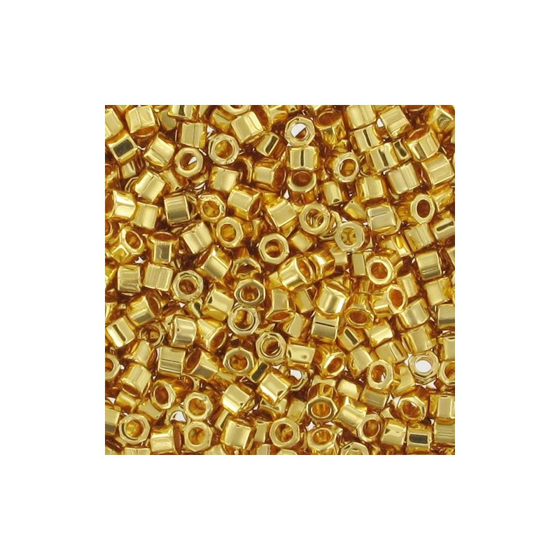 DBC-0031 24KT Gold Plated Miyuki DELICA Hex Cut 11/0 seemnehelmed