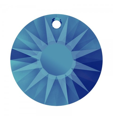 33MM Crystal Bermuda Blue P (001 BBL) Sun Pendant partly frosted 6724/G SWAROVSKI ELEMENTS