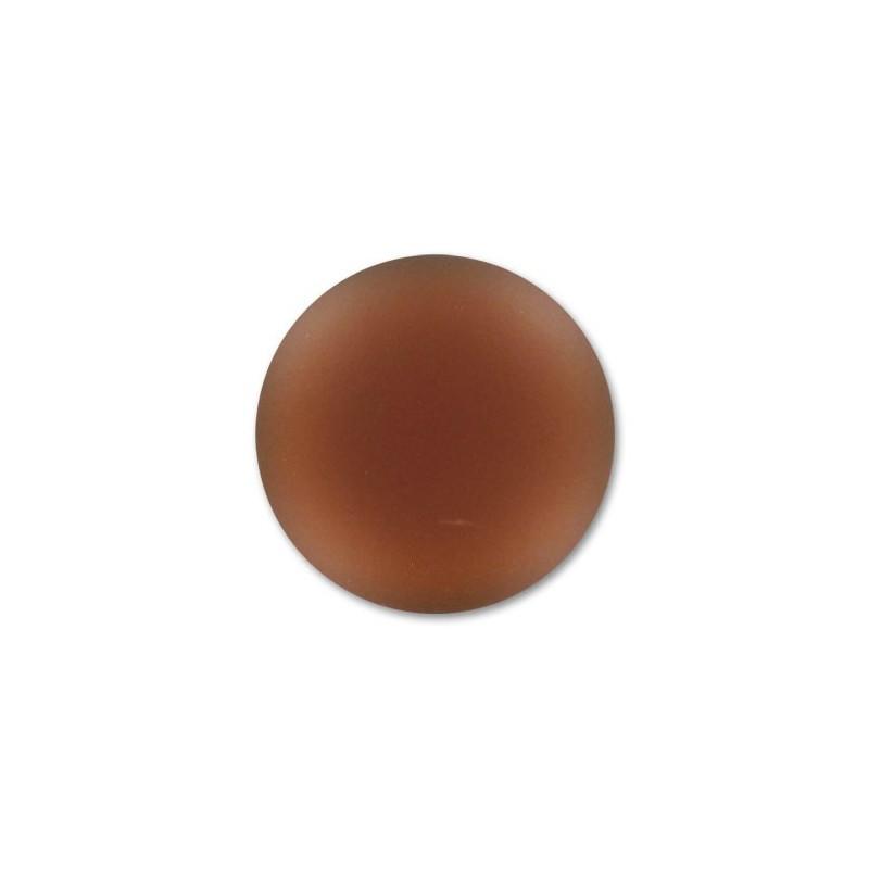 18mm Smoked Topaz Lunasoft Lucite Round Cabochon
