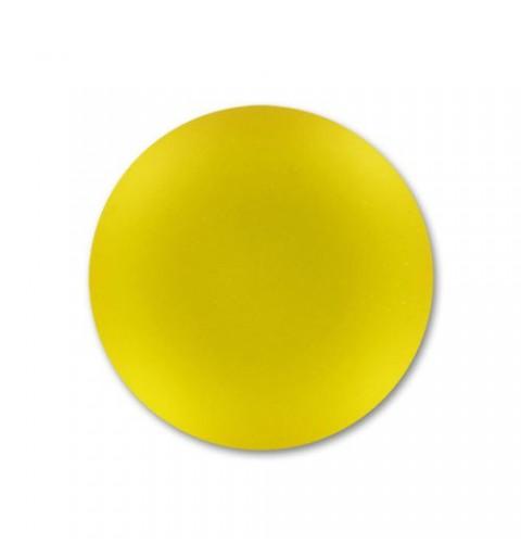 24mm Sunflower Lunasoft Lucite Round Cabochon