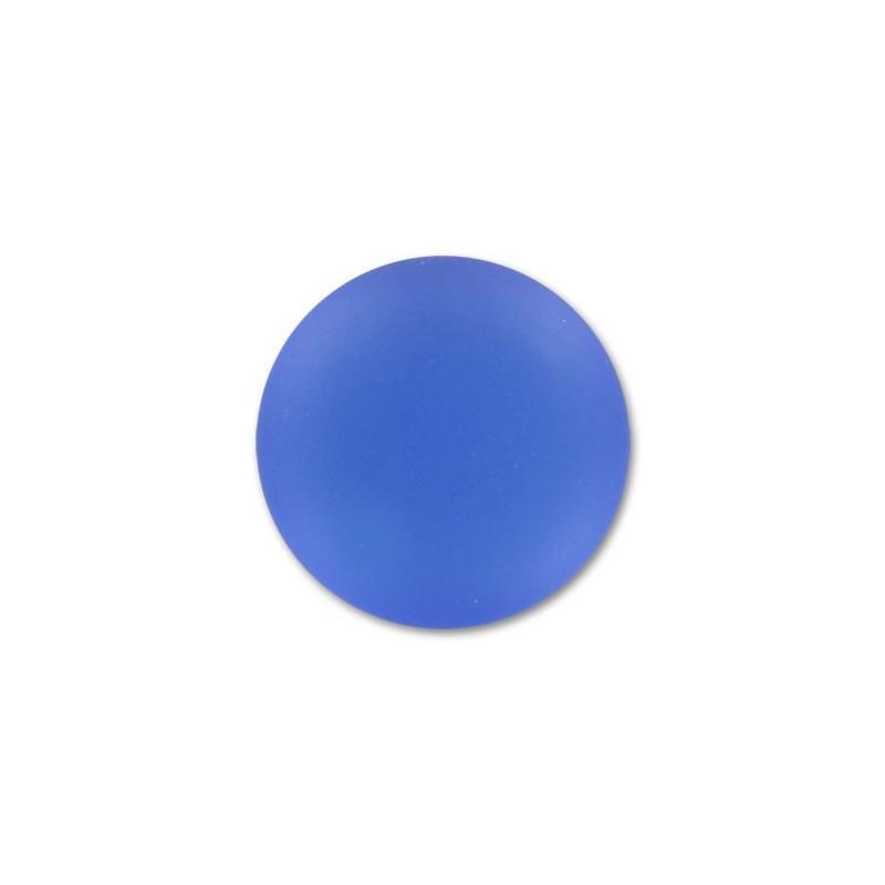 18mm Sapphire Lunasoft Lucite Round Cabochon