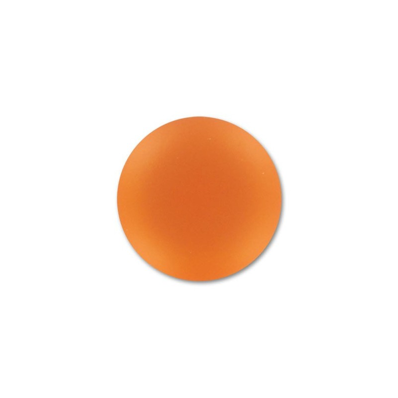 24mm Orange Lunasoft Lucite Round Cabochon
