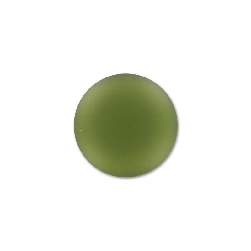 18mm Olivine Lunasoft Lucite Round Cabochon