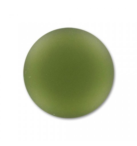 24mm Olivine Lunasoft Lucite Round Cabochon