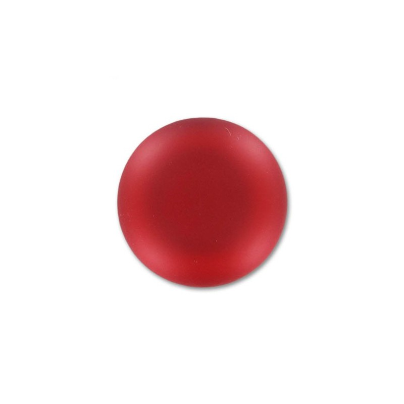 24mm Light Siam Lunasoft Lucite Round Cabochon
