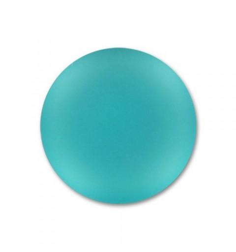 24mm Blue Zircon Lunasoft Lucite Round Cabochon