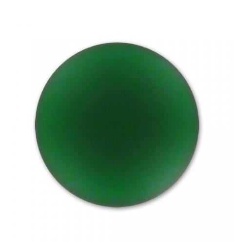 24mm Emerald Lunasoft Lucite Round Cabochon