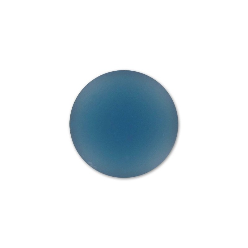 18mm Denim Blue Lunasoft Lucite Round Cabochon