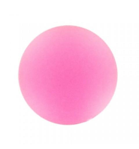 24mm Rose Fluo Lunasoft Lucite Round Cabochon