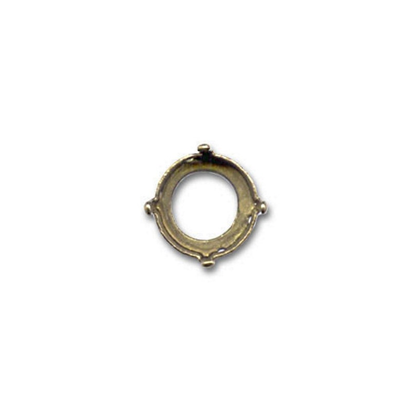 16mm Setting for Swarovski Rivoli 1122 Bronze colored (4 holes, 4 prongs)