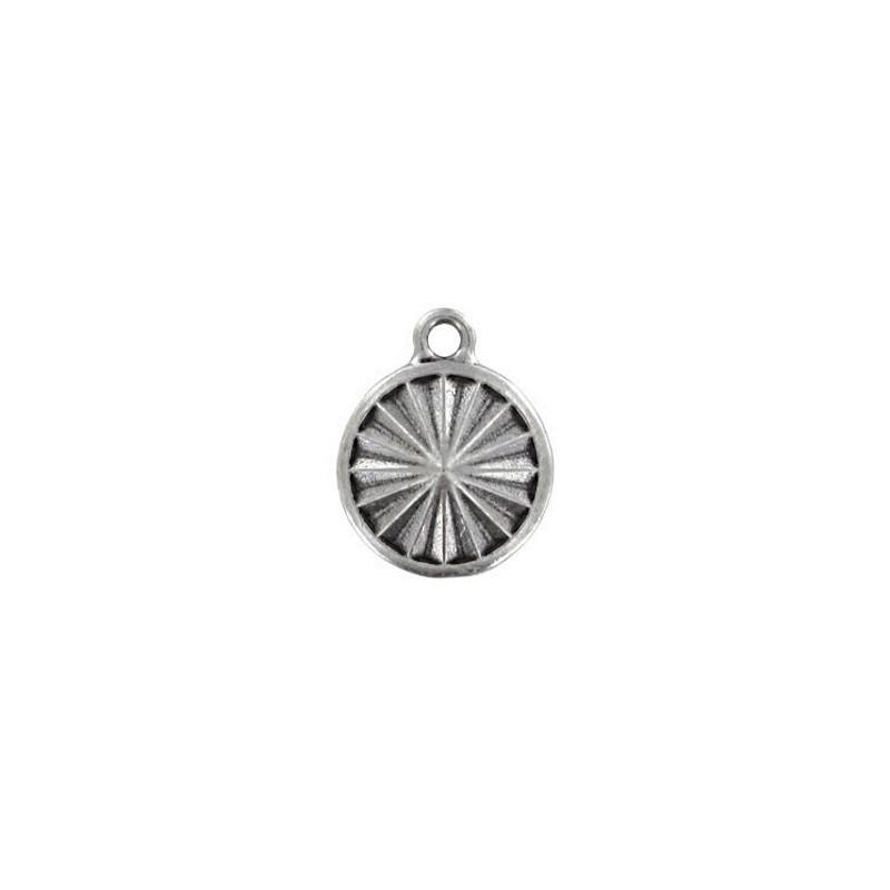 14mm Оправа для Сваровски Риволи 1122 цвет Родий с кольцом