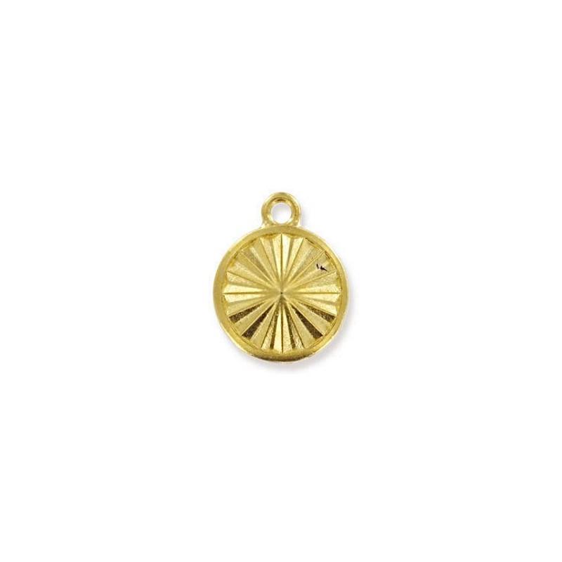 14mm Оправа для Сваровски Риволи 1122 цвет Золота с кольцом