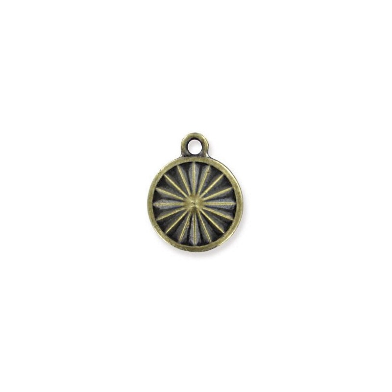 14mm Оправа для Сваровски Риволи 1122 цвет Бронзы с кольцом