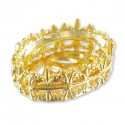 14x10mm Setting for Swarovski Oval 4120 Gold colored