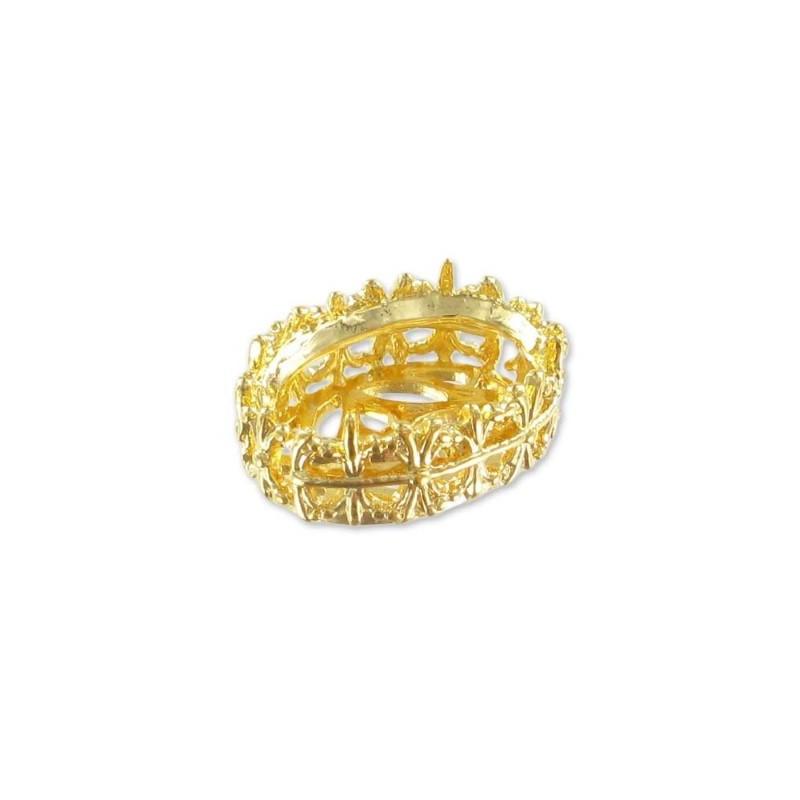 14x10mm Оправа для Сваровски Овал 4120 цвет Золота