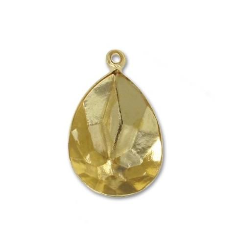 18x13mm Оправа для Сваровски Грушевидный 4320 цвет Золота с кольцом