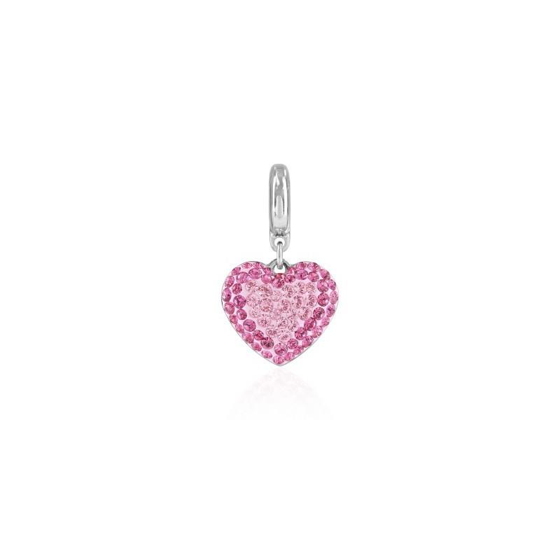 14mm BeCharmed Pavé Сердце Charm 86502 Light Rose Swarovski Elements