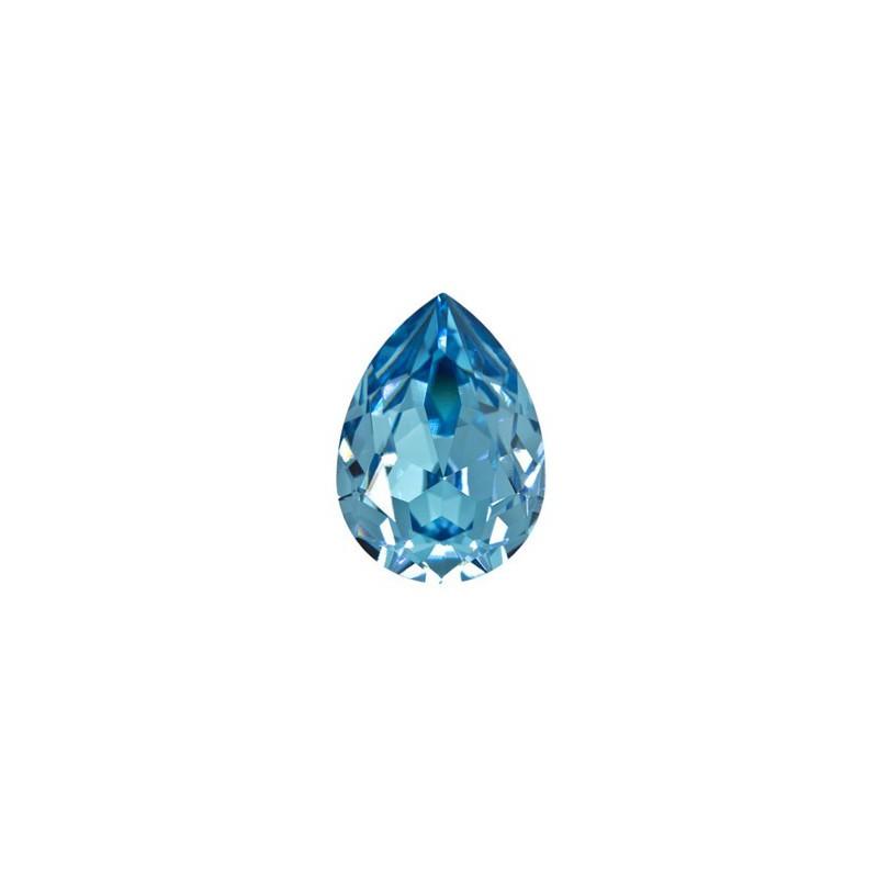 14x10mm Aquamarine F (202) Pear-Shaped Fancy Stone 4320 Swarovski Elements