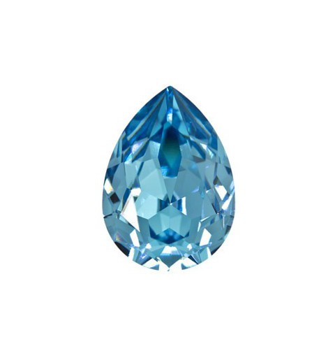 14x10mm Aquamarine F (202) Pear-Shaped Fancy Stone 4320 Swarovski Elements