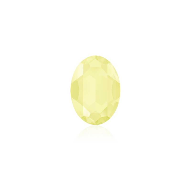 14x10mm Crystal Powder Yellow (001 PYEL) Oval Fancy Stone 4120 Swarovski Elements