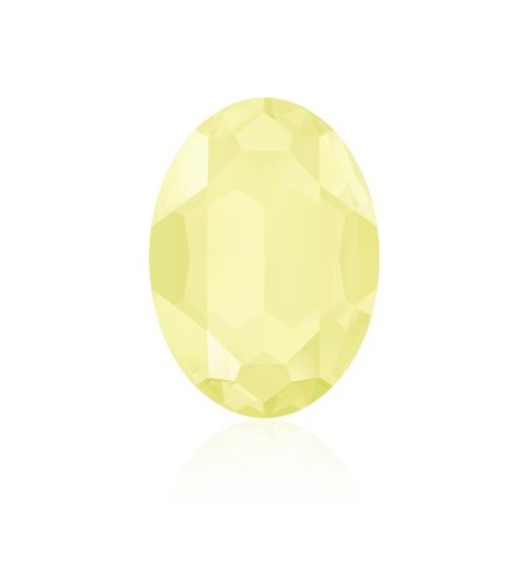 18x13mm Crystal Powder Yellow (001 PYEL) Oval Fancy Stone 4120 Swarovski Elements