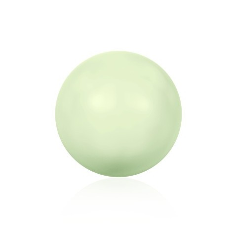10MM Crystal Pastel Green Round Half Drilled Pearl (001 967) 5818 SWAROVSKI ELEMENTS