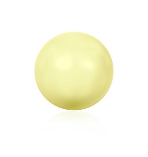 10MM Crystal Pastel Yellow Round Half Drilled Pearl (001 945) 5818 SWAROVSKI ELEMENTS