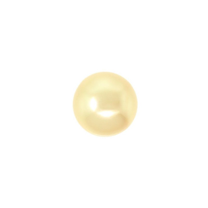 10MM Crystal Gold Round Half Drilled Pearl (001 296) 5818 SWAROVSKI ELEMENTS