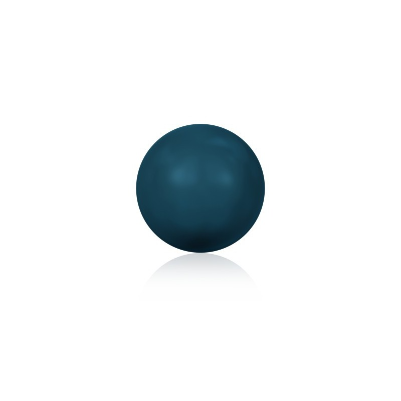 10MM Crystal Petrol Round Half Drilled Pearl (001 600) 5818 SWAROVSKI ELEMENTS