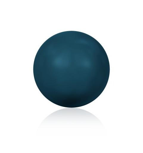 12MM Crystal Petrol Round Half Drilled Pearl (001 600) 5818 SWAROVSKI ELEMENTS